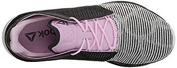 Reebok Women's Fast Flexweave Running Shoe, Coalwhitemoonglowacid Pink, 8.5 M Us 6
