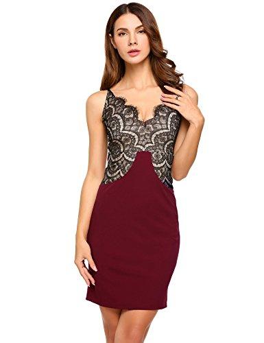 Cindere Robes De Cocktail Robe Extensible Vestimentaire Pour Les Femmes Des Robes D'été Robes Vin Rouge
