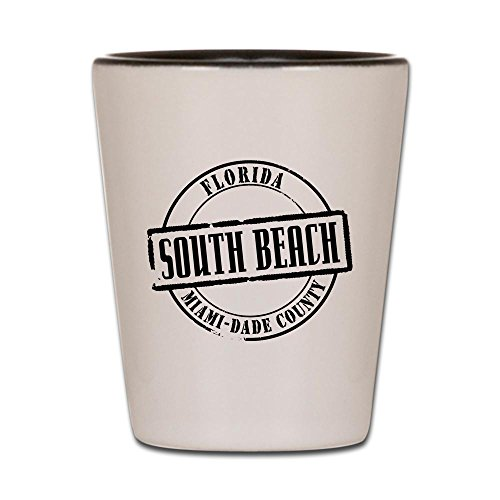 CafePress - South Beach Title Shot Glass - Shot Glass, Unique and Funny Shot Glass]()