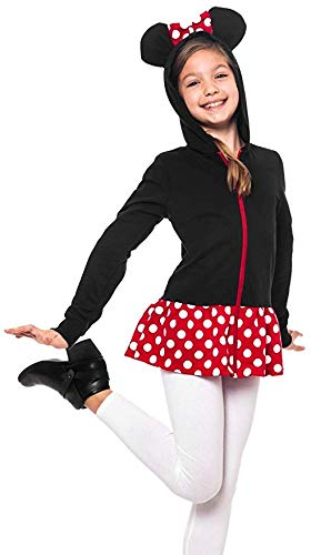 Cute Minnie Mouse Costume Ideas (Disney Minnie Mouse Girls Sweatshirt Zip Jacket Costume Ears Ages 4-12)