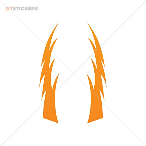 Vinyl Stickers Decals A Pair Of Strikes Sparks Thunders Garage home window pipe hot eyes wheel (15 X 2,97 Inches) Orange