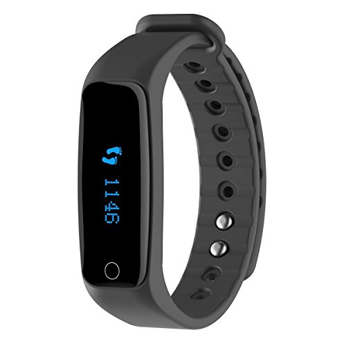 Teclast H30 OLED Display Bluetooth 4 0 Heart Rate Monitor Smart Wristband  with WeChat Sports Alarm Clock for Android IOS - BLACK