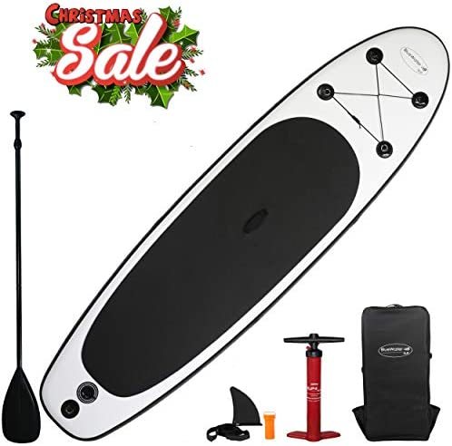 Blue Water 11 Premium SUP Inflatable Stand Up Paddle Board Set 34 Inches Wide Extra Stable Extra Large Non-Slip Deck 6 Inches Thick Youth Adult