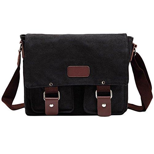 Price comparison product image Katie Men Women Canvas Retro Messenger Bag Casual Shoulder Bag for Work College Travel
