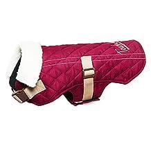 Touchdog Original Sherpa-Bark Designer Fashion Pet Dog Coat Jacket, Dark Pink, Large