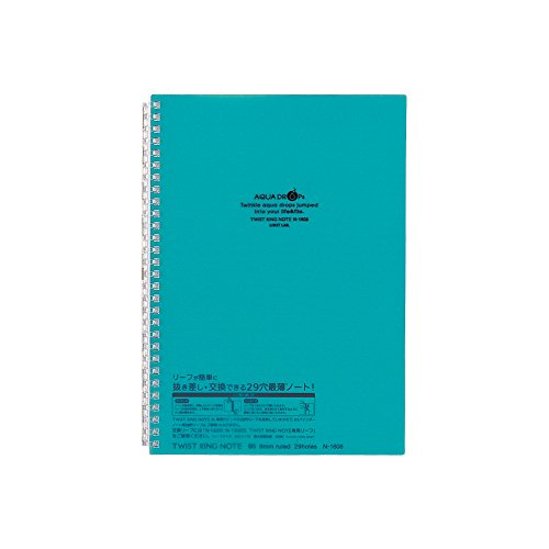 Used, Lihit Lab Twist Ring Notebook, Graph Paper, Blue Green, for sale  Delivered anywhere in Canada