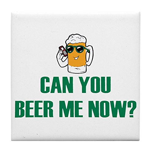 Tile Coaster (Set 4) Can You Beer Me Now Beer Mug - Coors Light Coaster Set
