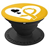 Childhood Cancer Gifts- Childhood Cancer Awareness PopSocket - PopSockets Grip and Stand for Phones and Tablets