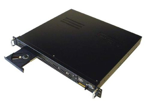 Casetronic Travla C146 1U 15 inch Dual PCI Mini ITX Rackmount-Black