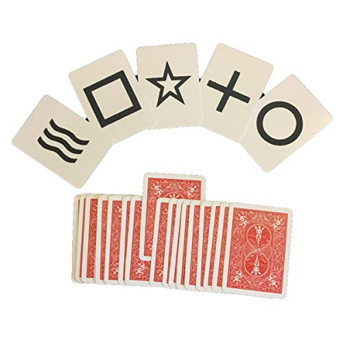 Magic ESP Deck Trick - Black Faces - Poker Size - Bicycle Cards in Red or Blue (Simple Card Tricks With A Normal Deck)