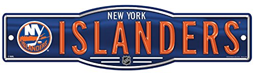 WinCraft NHL New York Islanders 4''x17'' inch Plastic Street Sign