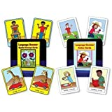 Language Booster Card Combo (Spatial Concept Picture Cards and Verb Action Cards)