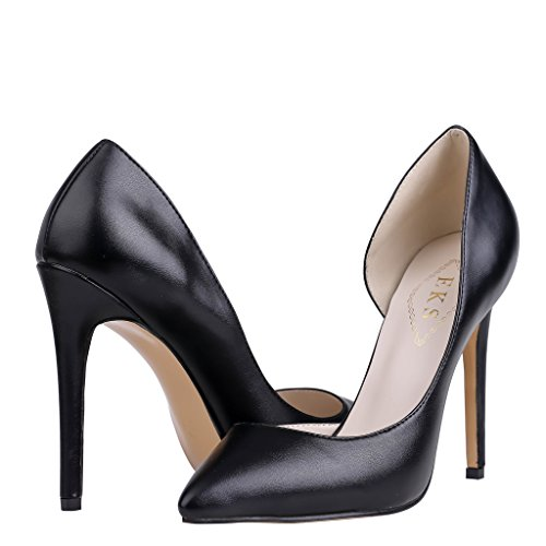 EKS - Zapatos de Tacón Mujer Negro - Schwarz-matte