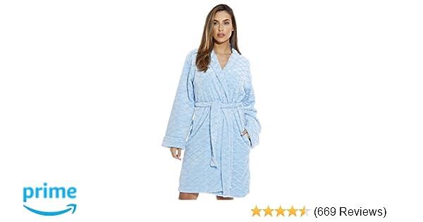 2397160a26 Just Love Kimono Robe Velour Scalloped Texture Bath Robes for Women at  Amazon Women s Clothing store