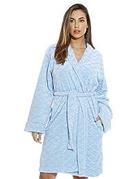 b46275b1e Just Love Kimono albornoza Albornoz de Terciopelo con Textura festoneada para  Mujer