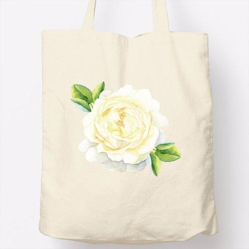 Bolso Totebag - Diseño original - Flor blanca