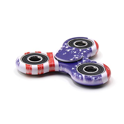 Yeahbeer Hand Fidget Spinner Toy Stress Reducer and Perfect For ADD, ADHD ,Finger Toy fidget work Ultra Fast Bearings (flag) - 4