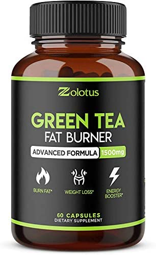 Organic Green Tea Fat Burner + Garcinia Cambogia Weight Loss Pills for Women & Men, Energy & Diet Pills, Metabolism Booster, Appetite Suppressant and Weight Loss for Women, 60 Capsules 1