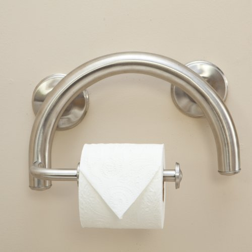 Grabcessories 61028 2 In 1 Grab Bar Toilet Paper Holder