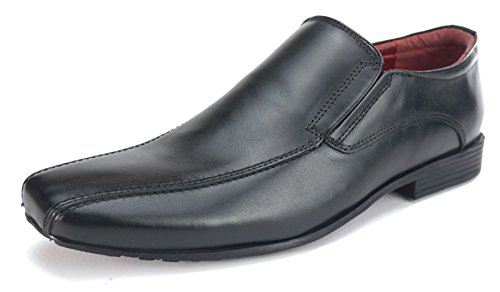 Side Walk Mens Leather Slip On Formal Mens Shoes Clearance Fashion 7 8 9 10 11 12 Black 7nwE8