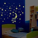 Elevin(TM)  A Set Kids Bedroom Fluorescent Glow in The Dark Stars Wall Stickers