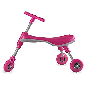 Fly Bike Foldable Indoor/Outdoor Toddlers Glide Tricycle - No Assembly Required (Pink/Pearl)