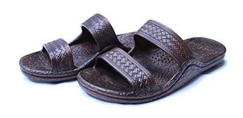 Kali Footwear Women's Jesus Hawaii Open Toe Double Strap Hawaiian Sandals Simple(Brown, 7 B(M) US)