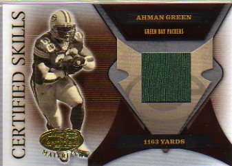 2005 Leaf Certified Materials Certified Skills Jersey #24 Ahman Green Game-Worn Jersey Card Serial #'d/175 - Ahman Green Game