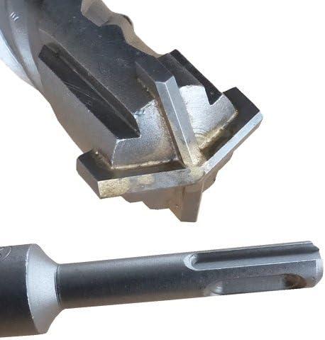 SDS PLUS /Ø30 x 600mm Hammerbohrer Betonbohrer Steinbohrer Quadro-X f/ür Mauerwerk vierschneidig BOHRFUX