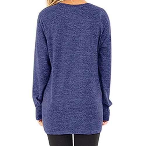 Col Hiver Pullover 2XL Croix S Femme Tops Automne Design Rond Manches Printemps Shirt 9 Casual Longues Haut Tunique Coton Lache T Tunique Large Hibote Blouse Xq7R7