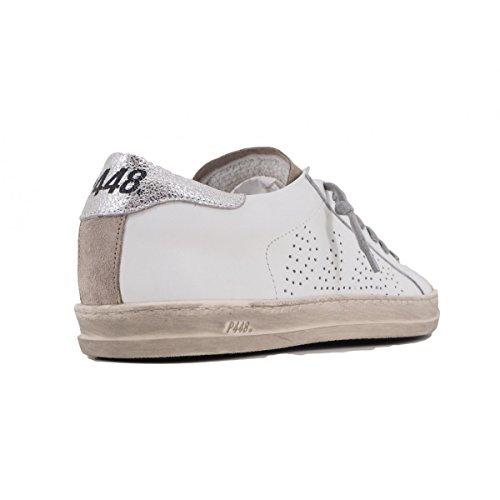 Silver COJONH P448 Bianco Donna Sneaker XxqgzZw1WO