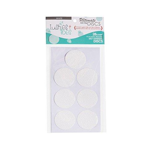 Non-Slip Bathtub Mats slippery surface Bath Tub Anti-slip Discs - Non Skid Adhesive Shower Stickers Appliques Treads Bathroom Accessories (White 2 - Pack) by Bathtub Mats