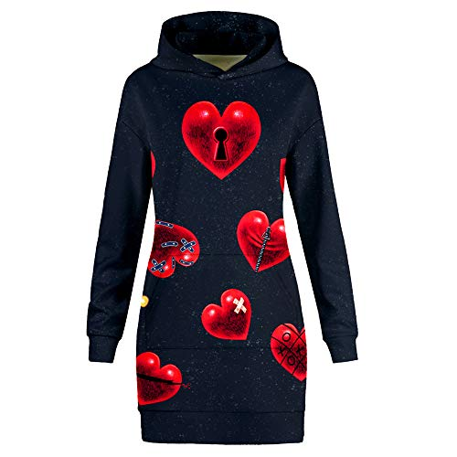 shirt Femme Hearts Red Sweat Amoma 5gxYqwv