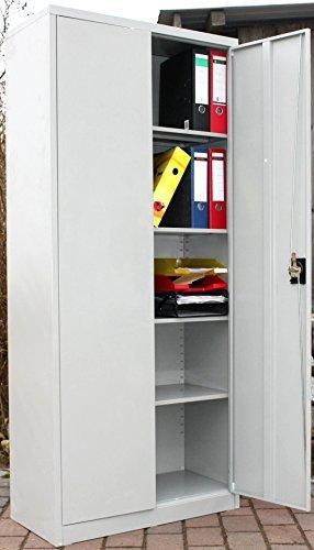 Aktenschrank metall  Metallschrank Büro Schrank 2-türig hoch Aktenschrank Metall ...
