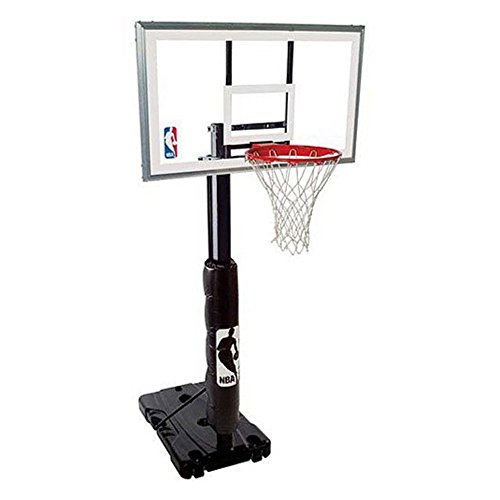 Spalding 68395W NBA Portable Basketball Hoop with 54 Inch Polycarbonate Backboard by Spalding