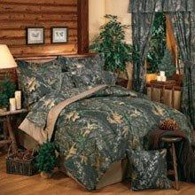 Mossy Oak New Break Up Camouflage Queen 13 Pc Bedding Set (Comforter, 1 Flat Sheet, 1 Fitted Sheet, 2 Pillow Cases , 2 Shams , 1 Bedskirt, 1 Valance/Drape Set) - SAVE BIG ON BUNDLING!