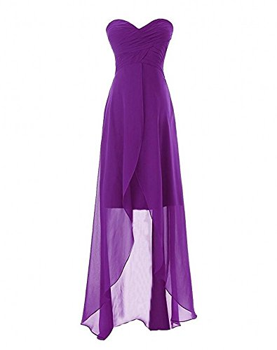 Purple Chiffon Bridesmaid Sweetheart Women's Dress Grey Short Dress Botong Prom SqzwAfZx