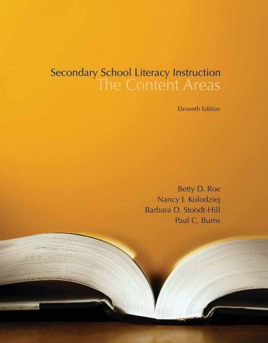 Second.School Lit.Instr.:Content Areas
