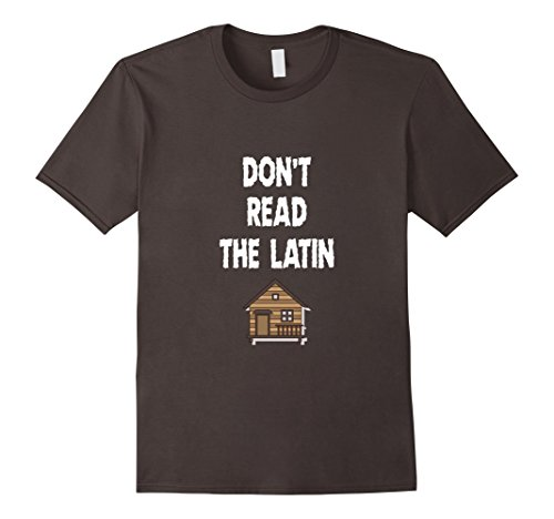 Mens Halloween Cabin T-Shirt Don't Read the Latin Graphic Tee 3XL Asphalt (Cult Halloween Movies)