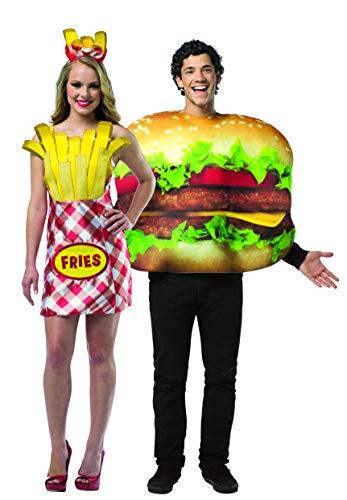 Rasta Imposta Burger & Fries Couples Costume -