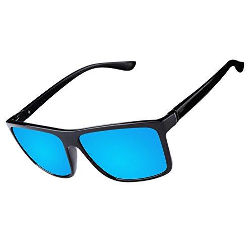 8dff24e245 Gafas de Sol Polarizadas Hombre Mujer estilo Wayfarer Vintage Gafas de sol  UV400 Proteccion Kennifer Durable