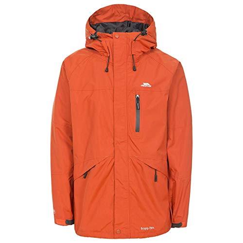 finest selection b4e34 c2e93 Trespass Mens Corvo Hooded Full Zip Waterproof JacketCoat (XS) (Burnt  Orange