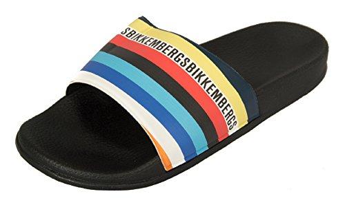 Bikkembergs Flip Flops Slipper for Men Beachwear Pool Item B6A8035 0031 Nero - Black 1gQsxkdYl