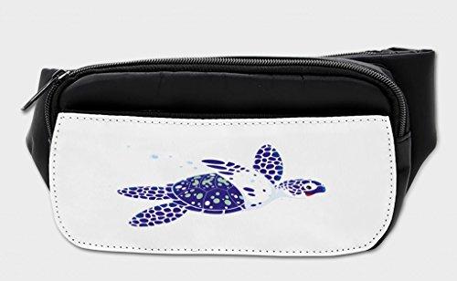 Lunarable Turtle Bumbag, Loggerhead Marine Reptile, Fanny Pack Hip Waist Bag