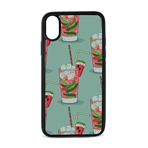 Watermelon Juice is Sweet and Cool Digital Print TPU Pc Pearl Plate Cover Phone Hard Case Cell Phone Accessories Compatible with Protective Apple Iphonex/xs Case 5.8 Inch ()