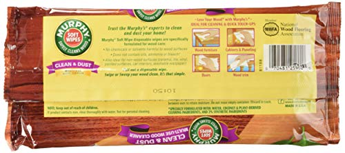 Murphy Oil Soap Soft Wipes, Wet, Disposable, Large Size, 18 Count (Pack of 3) by Murphy (Image #1)
