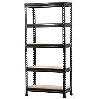 go2buy 5 Tier Storage Rack Heavy Duty Shelf Steel Shelving Unit 27 by 12 by 59.1 Inch
