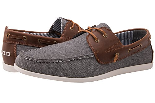 Brown Grey Casual Boat Shoes 10.5 M ()