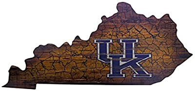 Ruskin352 Kentucky 24inch x 11inch State Cutout with Logo Wood Sign