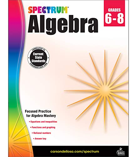 Spectrum | Algebra Workbook | Grades 6-8
